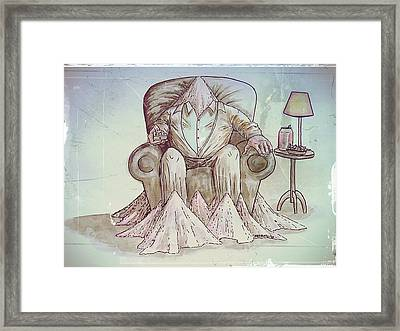 Man Deteriorating Framed Print by Paulo Zerbato