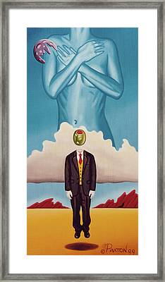 Man Dreaming Of Woman Framed Print