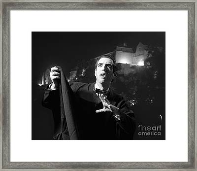 Man Dressed As A Vampire On Halloween Framed Print by H. Armstrong Roberts/ClassicStock
