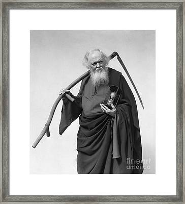 Man Dressed As Death, C.1930s Framed Print by H. Armstrong Roberts/ClassicStock