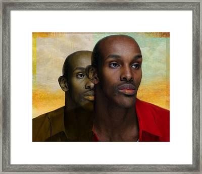 Man Emerges Framed Print