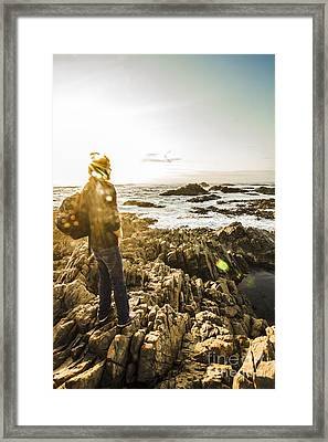 Man Finding Peace And Harmony Framed Print by Jorgo Photography - Wall Art Gallery