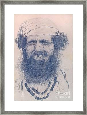Man From Madigascar Framed Print by Ron Bissett