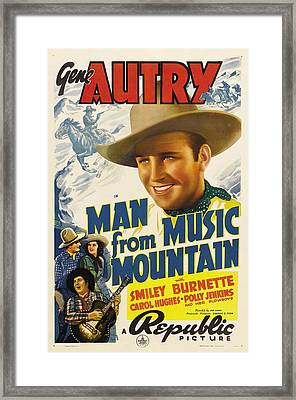 Man From Music Mountain, Gene Autry Framed Print by Everett