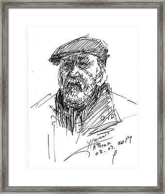 Man In A Hat Framed Print