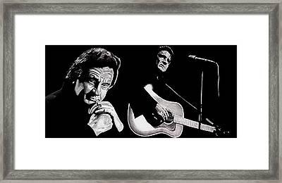 Man In Black Framed Print by Al  Molina