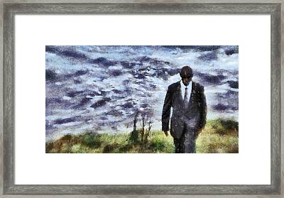 Man In Black Framed Print by John Springfield