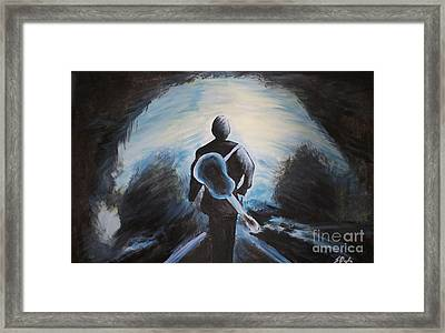 Man In Black Framed Print