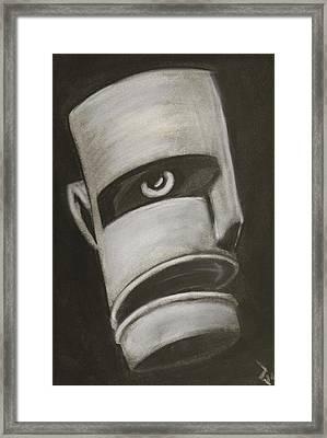 Man In Closet 2 Framed Print by Rick Stoesz