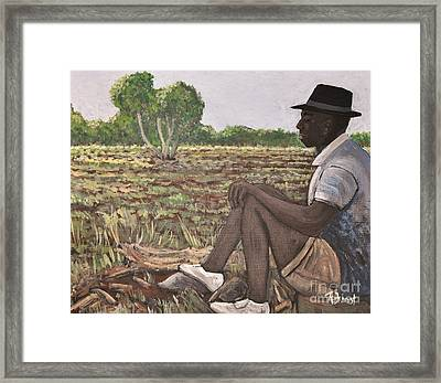 Man In Field Burkina Faso Series Framed Print