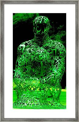 Man In Green Framed Print
