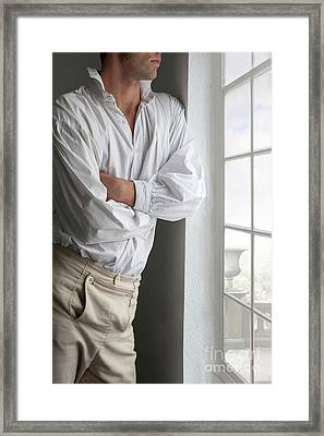 Man In Historical Shirt And Breeches Framed Print