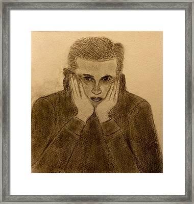 Man In A Hoodie Framed Print