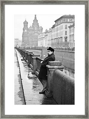 Man In Leningrad Framed Print