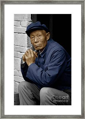 Man In Mao Suit 1986 - Dali, China Framed Print by Craig Lovell