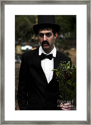 Man In Mourning Framed Print by Jorgo Photography - Wall Art Gallery