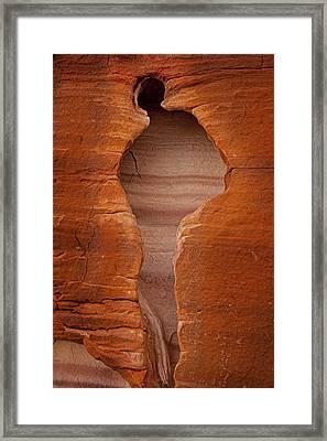 Man In Rock Framed Print by Kelley King