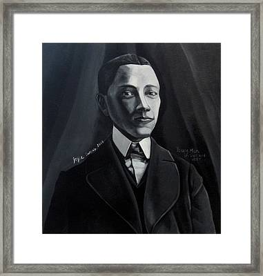 Man In Suit And Vest Out Of The Box Series Framed Print by Joyce Owens