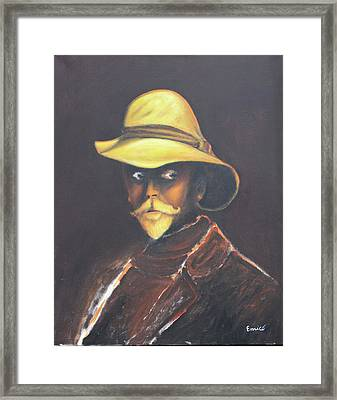 Man In The Golden Helmet - Edward S Curtis Framed Print