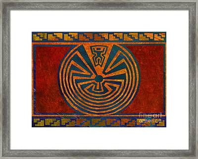 Man In The Maze Framed Print by Linda Henry