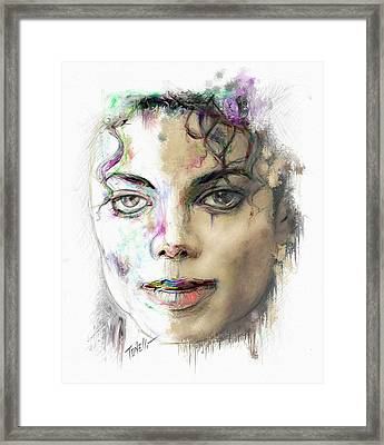 Michael Jackson Man In The Mirror Framed Print by Mark Tonelli