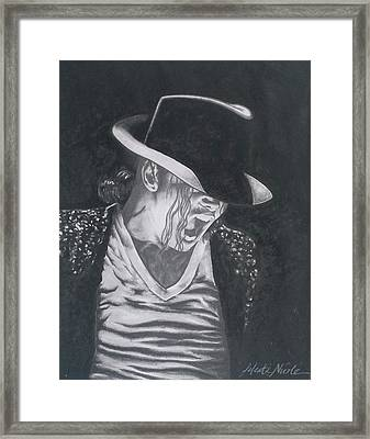 Man In The Mirror - Michael Jackson Framed Print