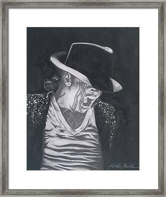 Man In The Mirror - Michael Jackson Framed Print by Jeleata Nicole