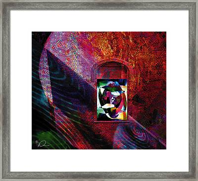 Man In The Moon Framed Print by David Derr