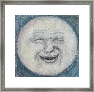 Man In The Moon Framed Print by Jennie Hallbrown