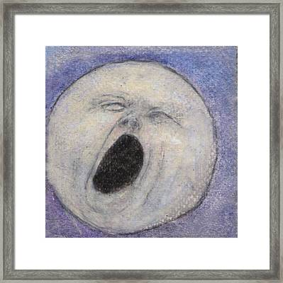 Man In The Moon No. 2 Framed Print by Jennie Hallbrown