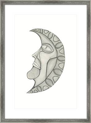 Man In The Moon Framed Print by Sara Stevenson