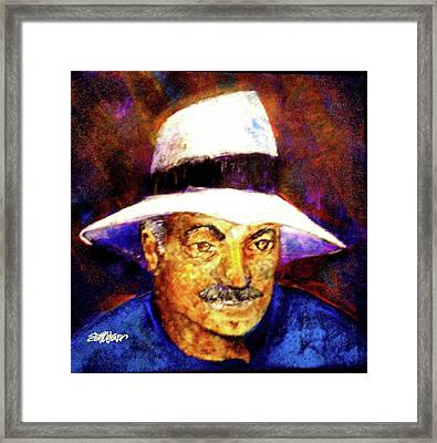 Man In The Panama Hat Framed Print