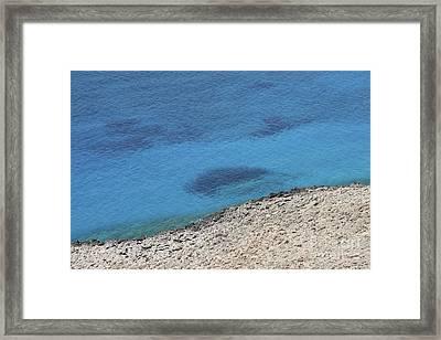 Man In The Sea Framed Print