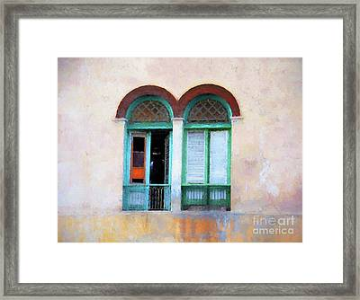 Man In The Shadows Framed Print