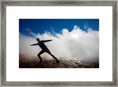 Man In The Steam At Namaskard- Framed Print