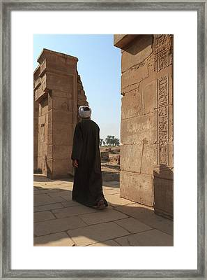 Framed Print featuring the photograph Man In The Temple by Silvia Bruno