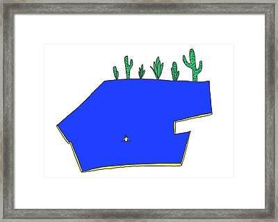 Man In Water Framed Print