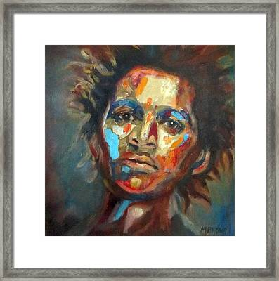 Man Of Color Framed Print by Monica Brown