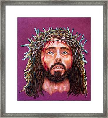 Man Of Sorrows No 3 Framed Print by Edward Ruth