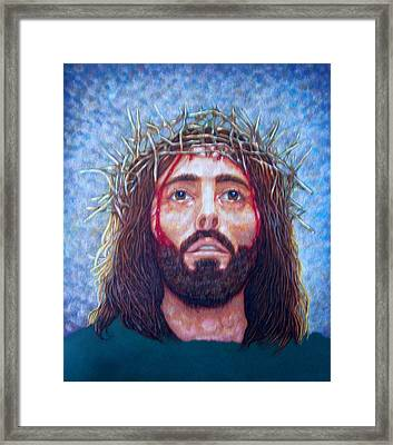 Man Of Sorrows No 5 Framed Print by Edward Ruth