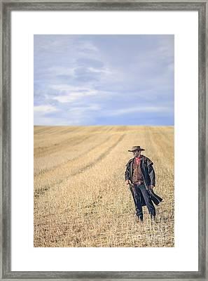 Man Of The West Framed Print by Evelina Kremsdorf