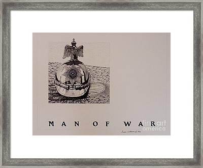 Man Of War Framed Print by Susan Williams