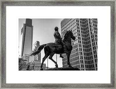 Man On A Horse Framed Print by Howard Roberts