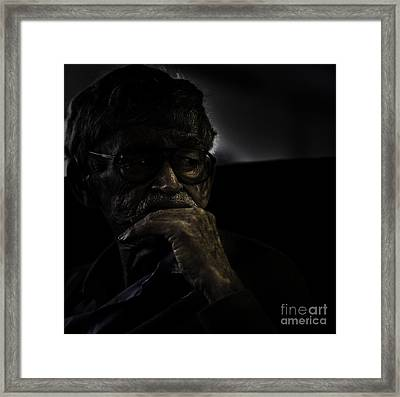 Man On Ferry Framed Print by Avalon Fine Art Photography