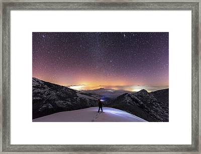 Man On Mars Framed Print by Evgeni Dinev