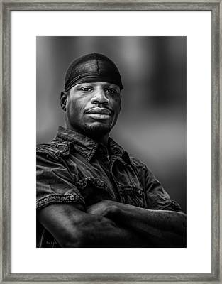 Man On The Corner Number 2 Framed Print by Bob Orsillo