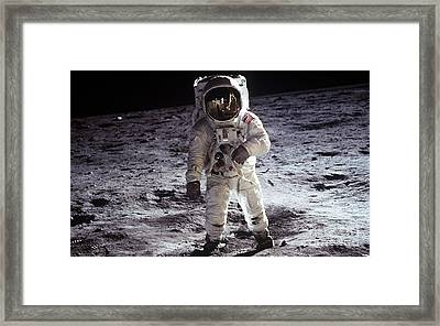 Man On The Moon 11 Framed Print by Jon Neidert