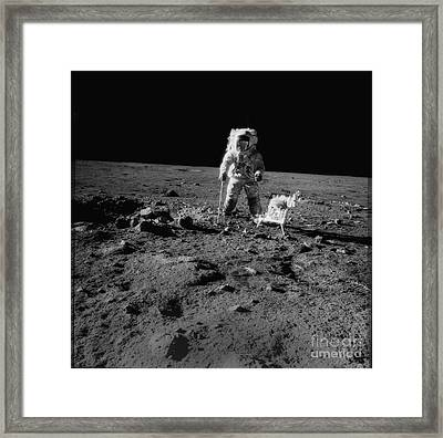 Man On The Moon Framed Print by Jon Neidert