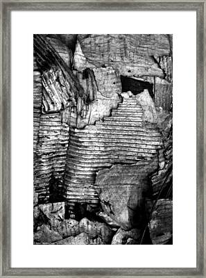 Man On The Move #14, B-w, Sat--6may2017 Framed Print
