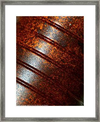 ''man On The Move #16'', Sun--7may2017 Framed Print